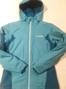 Columbia Thermacoil Hood Blue Winter Jacket S